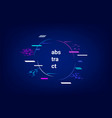 neon geometric abstract background vector image