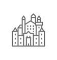 neuschwanstein castle landmark hohenschwangau vector image vector image