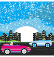 Night drive in a car vector image vector image