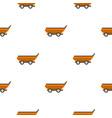 orange car trailer pattern flat vector image vector image