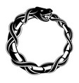 ouroboros concept tattoo shape vector image vector image