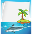 Paper design with dolphin in the sea vector image vector image