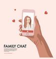 people using smartphones flat women with phone vector image