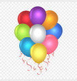 realistic balloons on transparent vector image