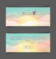realistic turquoise-yellow sky vector image vector image