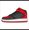 red basketball shoe design vector image
