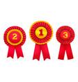rewarding badges award set vector image