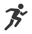 run icon running man on white background vector image vector image