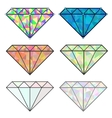 set of colorful shiny jewels vector image