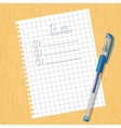 Sheet square and a pen vector image vector image
