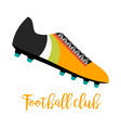 shoes with text football club vector image vector image