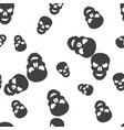 skull halloween pattern seamless vector image vector image