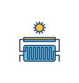 solar heating colored icon water heater vector image