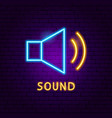 sound neon label vector image