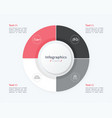 stylish pie chart circle infographic template 4 vector image vector image