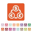 The currency exchange dollar euro pound sterling vector image vector image