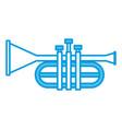 trumpet music instrument symbol vector image vector image