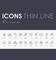 water thin line icons vector image