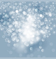 winter card with snowflakes vector image vector image