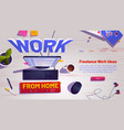work from home online business freelance vector image vector image