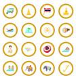 thailand icon circle vector image