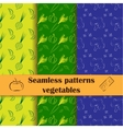 Collection of hand drawn seamless patterns with vector image