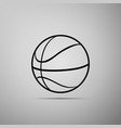 basketball ball icon sport symbol vector image