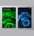 abstract technology background vector image vector image
