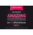 Banner Amazing Shopping on vector image