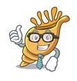 businessman exotic shell character cartoon vector image
