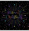 christmas inscription with rays vector image vector image
