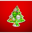 Christmas Tree with Colorful Bauble vector image