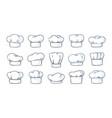 cook hat cartoon cooker headwear white cap vector image