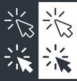cursors set vector image vector image