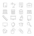 education school icon set vector image
