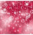 Elegant red christmas background EPS 8 vector image vector image