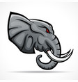 elephant head mascot concept vector image vector image