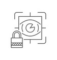 eye scan security concept line icon for web vector image vector image