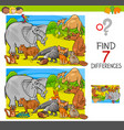 find differences game with animal characters group vector image vector image
