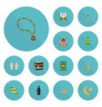 flat icons minaret palm new lunar and other vector image vector image