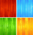 Four Christmas striped backgrounds vector image vector image