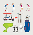 Golf Objects and Graphic Elements vector image vector image