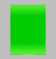 green abstract halftone geometric circle and vector image vector image