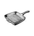 griddle pan vector image