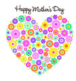 happy mothers day flower heart graphic vector image vector image
