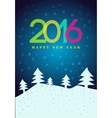 Happy New Year 2016 poster vector image vector image