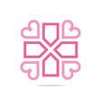 icon infinity love plus medical health vector image