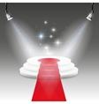 Illuminated stage podium vector image vector image