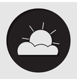 information icon - partly cloudy vector image vector image
