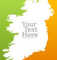 Irish flag background vector image vector image